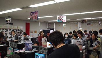 ゲームの展示会場の様子