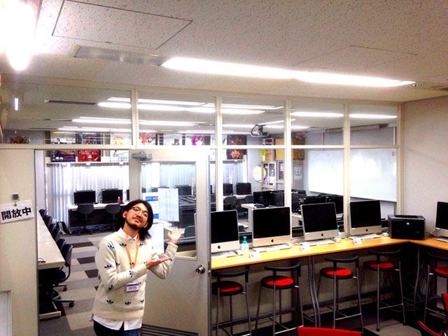 ゲームグラフィックデザイナー学科の教室