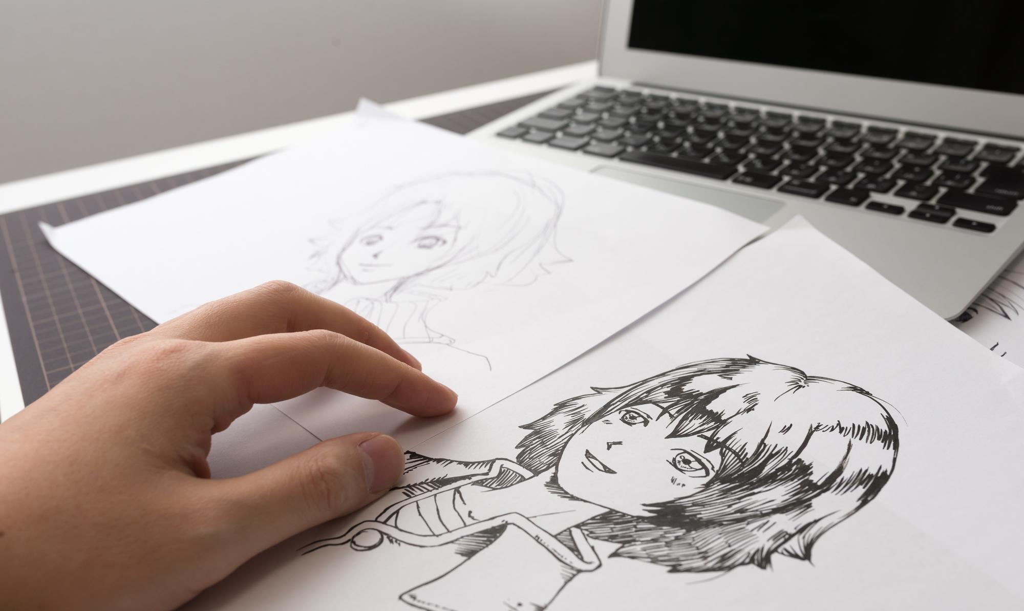 アシスタント描く絵