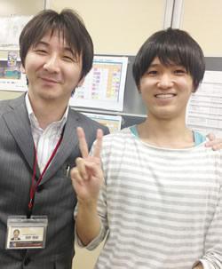 担任マネージャーの濱野先生と一緒に!
